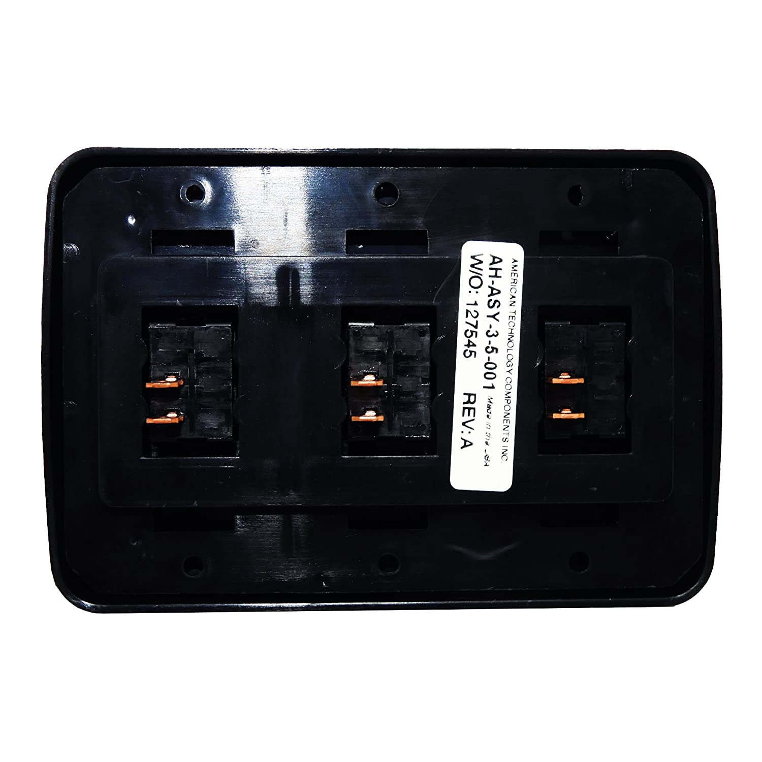 for RV American Technology Components Triple SPST On-Off Switch with Bezel 12-Volt Camper Trailer Brown