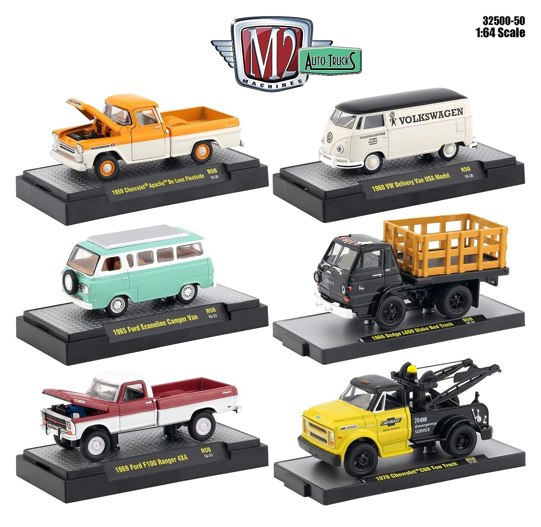 Amazon com: Auto Thentics 6 Piece Set Release 50 in Display Cases 1