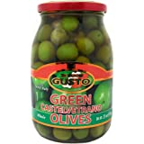 Gusto Italian Whole Castelvetrano Olives 23 Oz Drained Weight in Glass Jar 1.43 Pounds