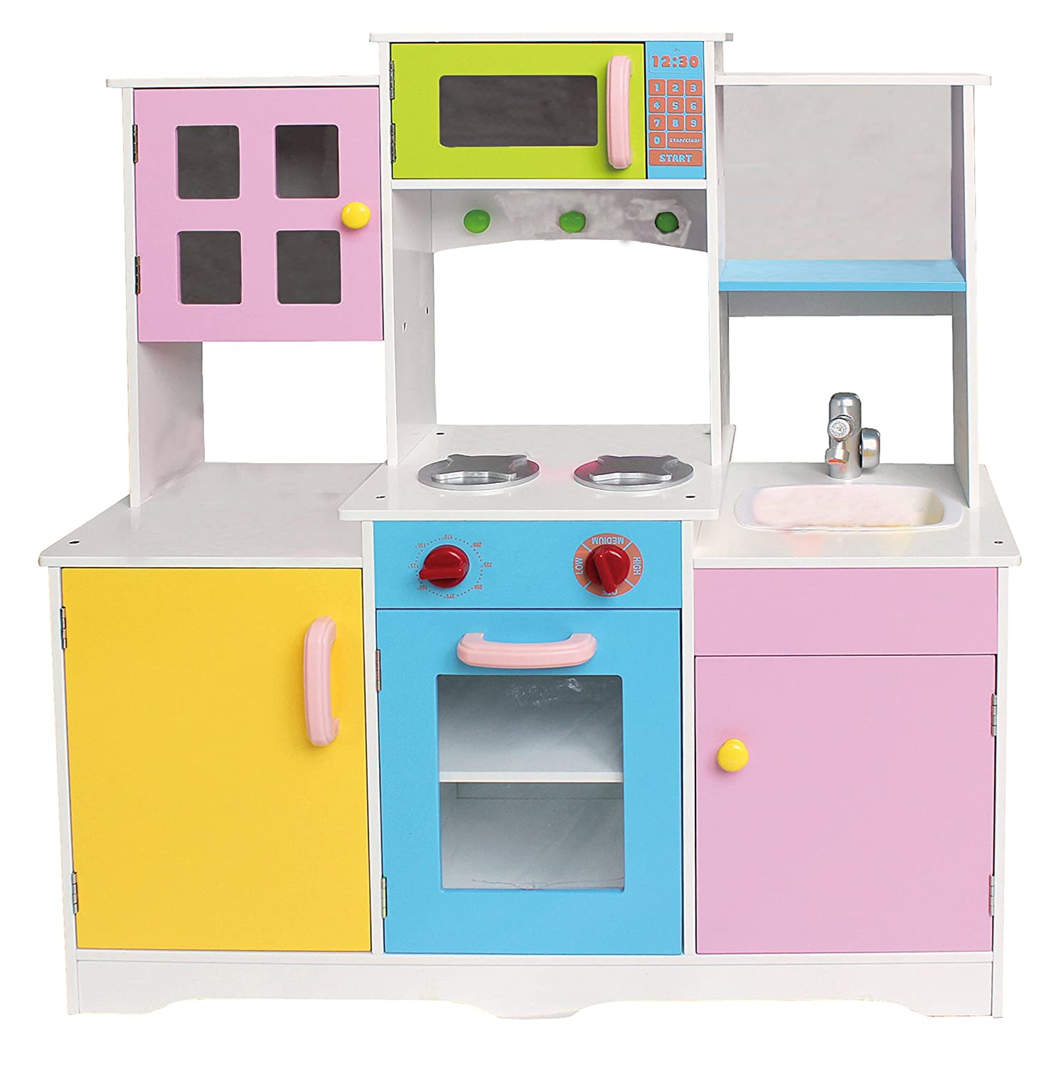Rostrad ® Large Girls Boys Kids Wooden Play Kitchen Role Play ...
