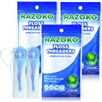 Floss Threaders   For Braces, Bridges, and Implants  210PCS (Pack of 3)