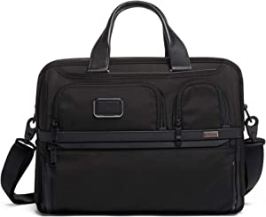 TUMI - Alpha 3 Expandable Organizer Laptop Brief Briefcase - 15 Inch Computer Bag for Men and Women - Black