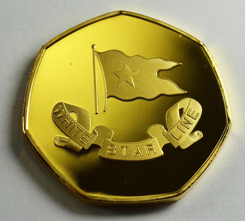 Album commemorativo per Monete in Oro 24 carati Collezione da 50 Pence RMS Titanic