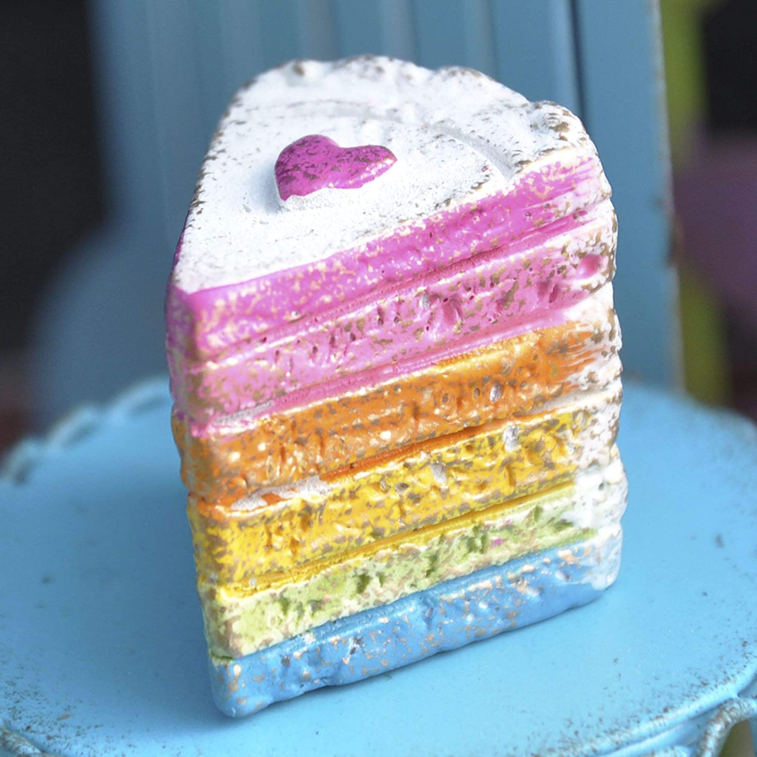 Studio M Magical Rainbow Cake for Miniature Garden Fairy Garden