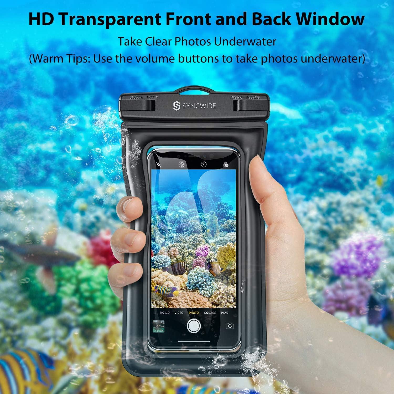 - Schwarz Syncwire Schwimmende Wasserfeste Handyh/ülle Huawei usw Galaxy S10//S9//S8 7 Zoll, 2 St/ück IPX8 Universal Wasserfeste Handyh/ülle Schwimmend f/ür iPhone SE2//11 Pro//11//XS Max//XR//X