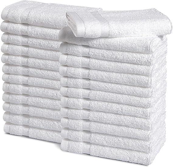 Haven Cotton 100% Premium Cotton Washcloth Towel Set - Pack of 24