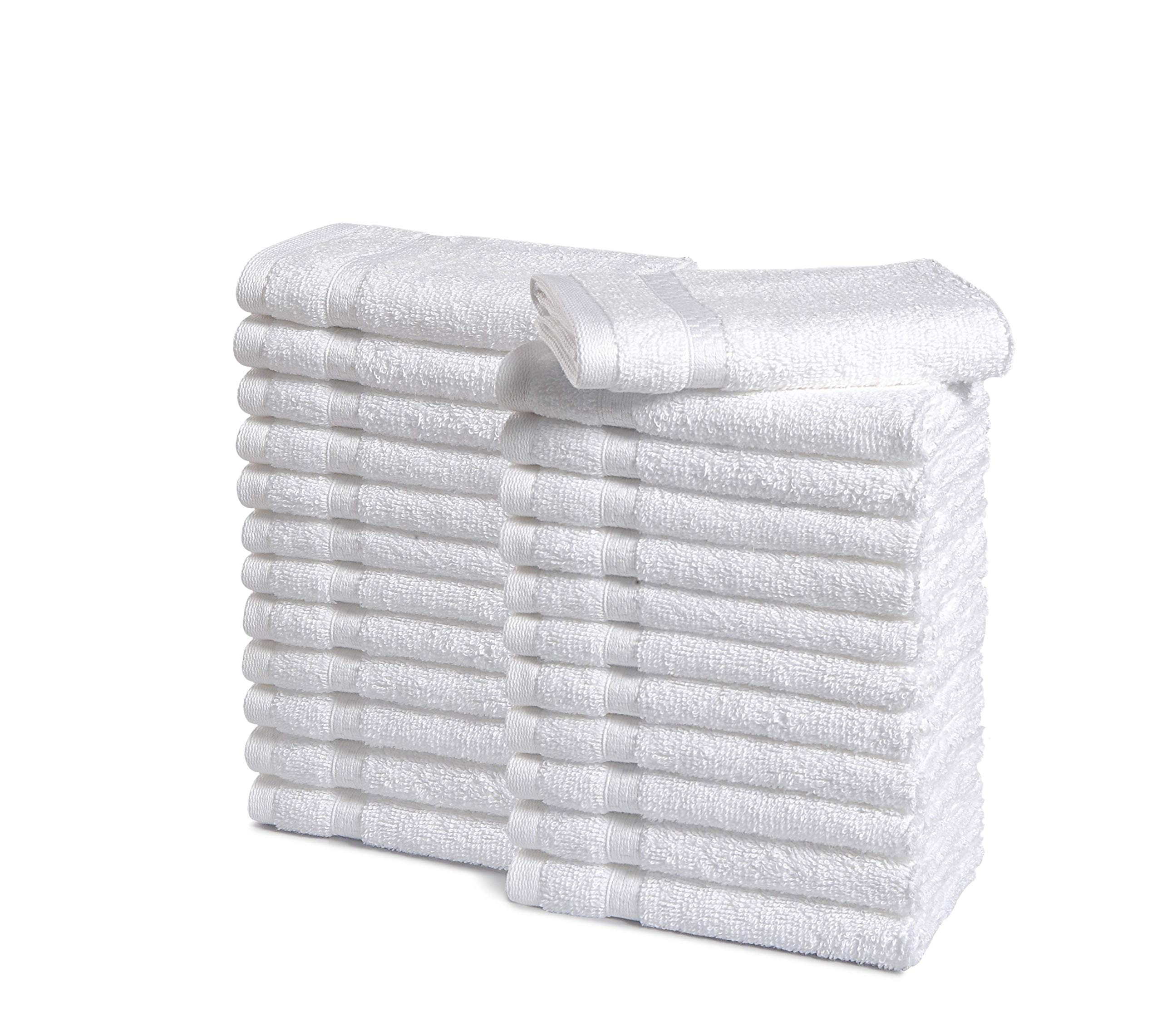 Haven Cotton 887719088631 Washcloth - pack of 24, 24 Pcs Wash towel, White