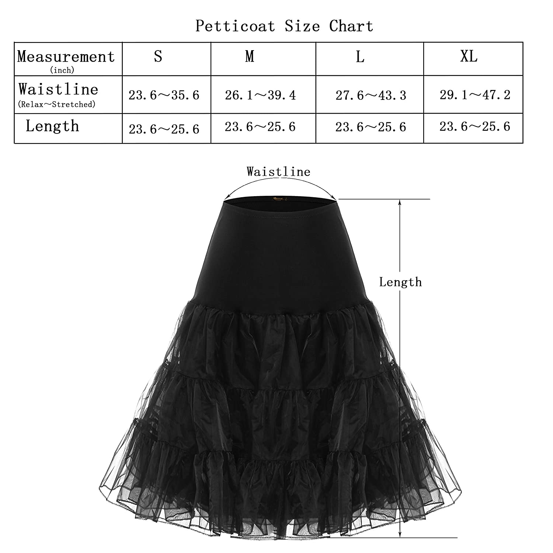 c2c2d38ad4ada BAOMOSI Women s 50s Vintage Petticoat Skirts Crinoline Tutu Underskirts at  Amazon Women s Clothing store