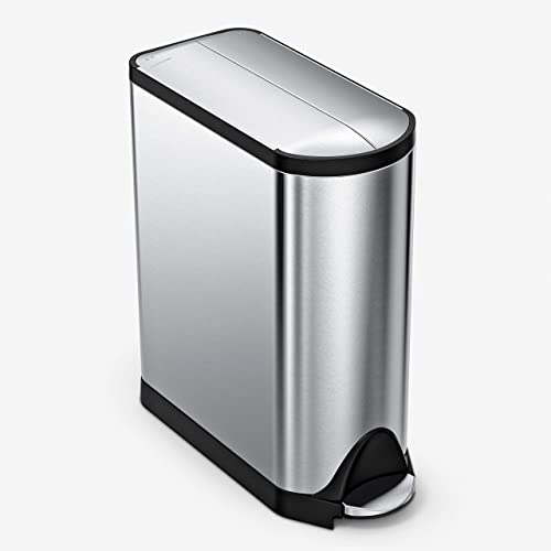 simplehuman-45-Liter-/-11.9-Gallon-Butterfly-Lid-Kitchen-Step-Trash-Can