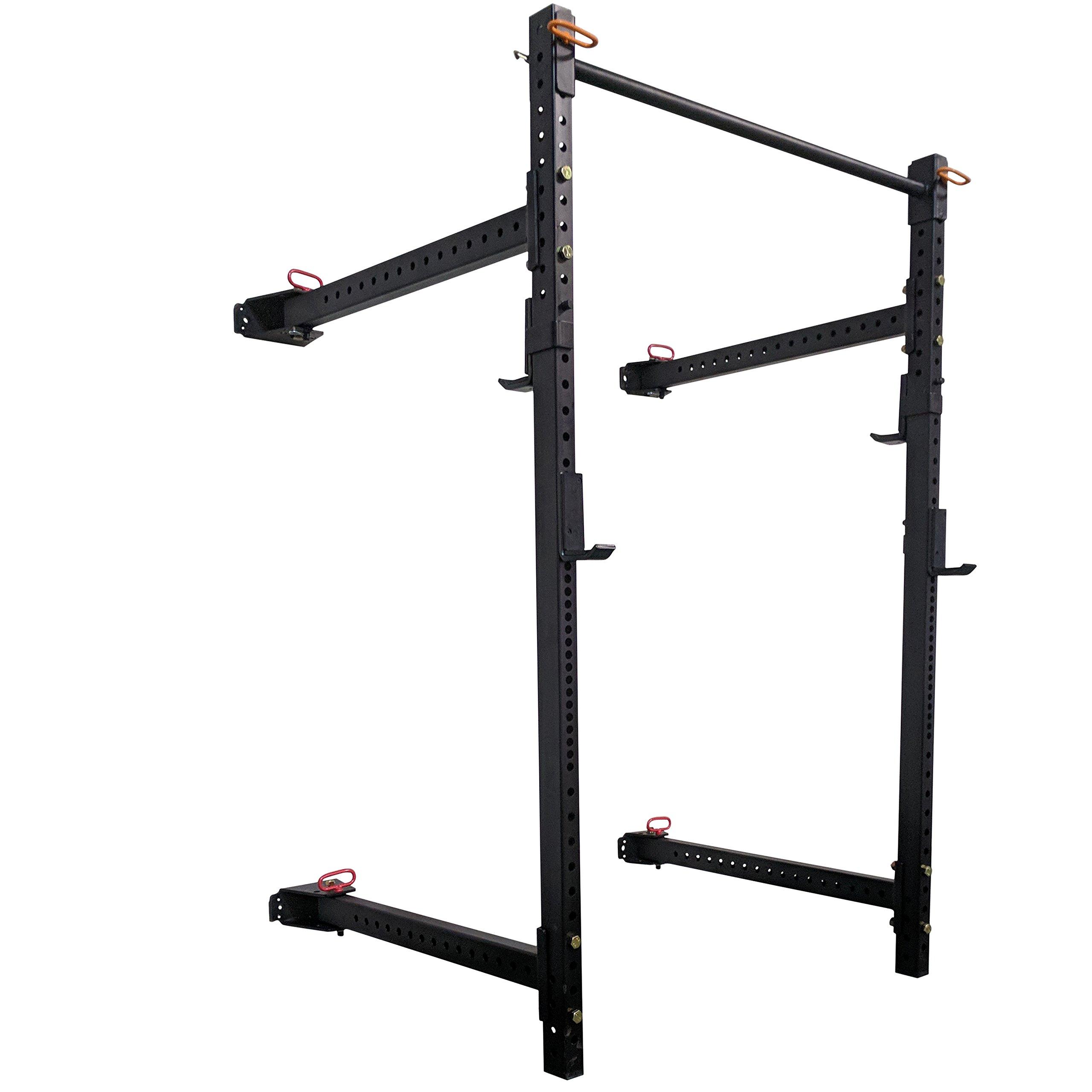 Titan Fitness T-3 Series Short Fold Back Power Rack 21.5'' Deep Wall Mounted