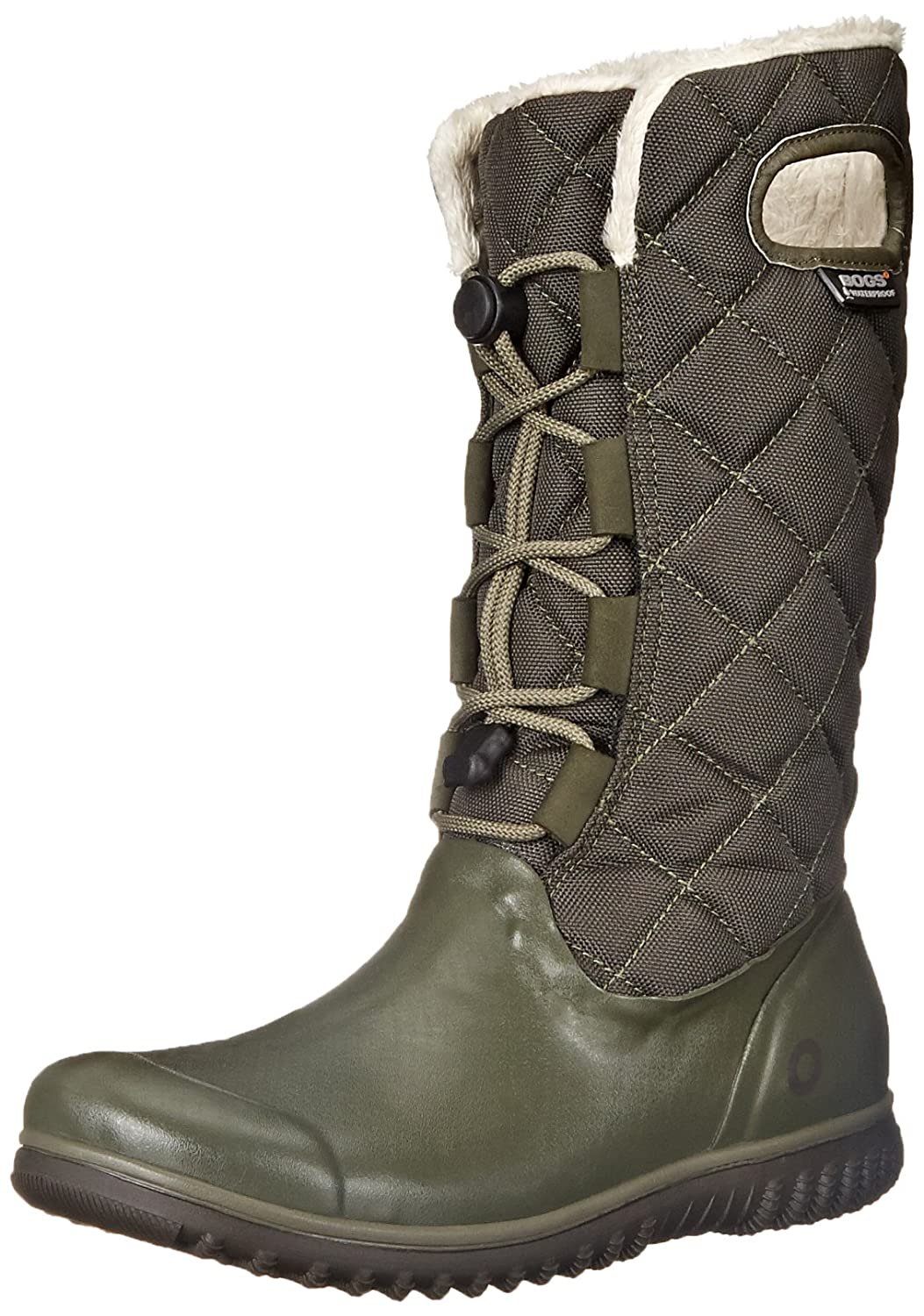 Bogs Women's Juno Lace Tall Winter Snow Boot B00QMLBOM4 11 B(M) US|Dark Green