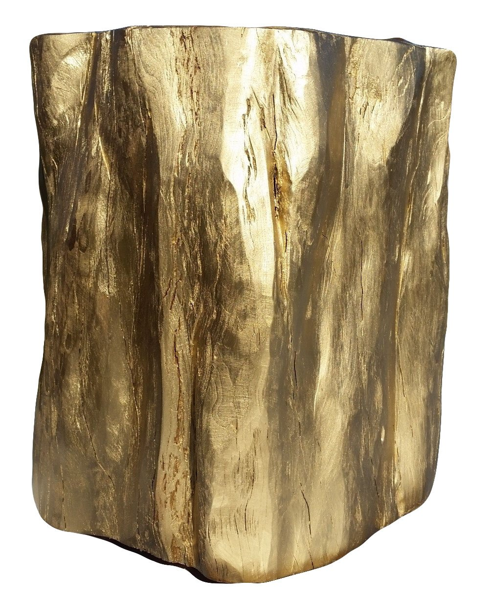 Side Table – Reclaimed Gold