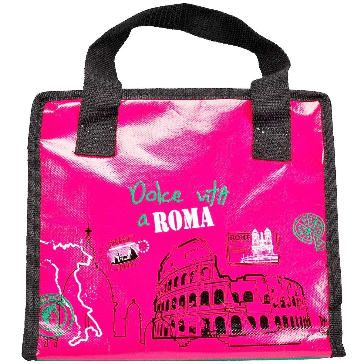 Lunch Bag Sac Panier Repas Fraicheur Isotherme City Dolce Vita /à Rome Promobo