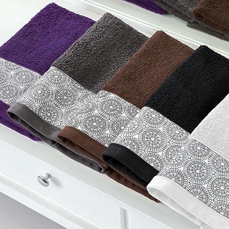 Barceló Hogar 05060090021 Juego 3 toallas con aplique para bidé, lavabo y ducha, modelo