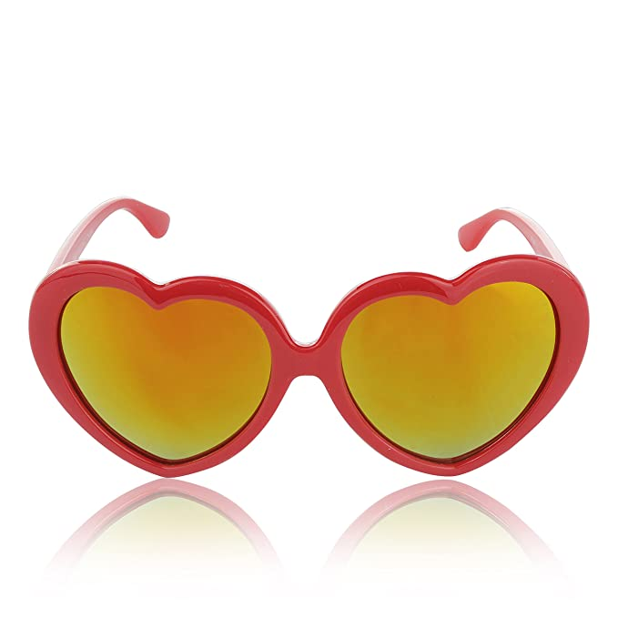 Amazon.com: Corazón Copas de anteojos de sol para niñas ...