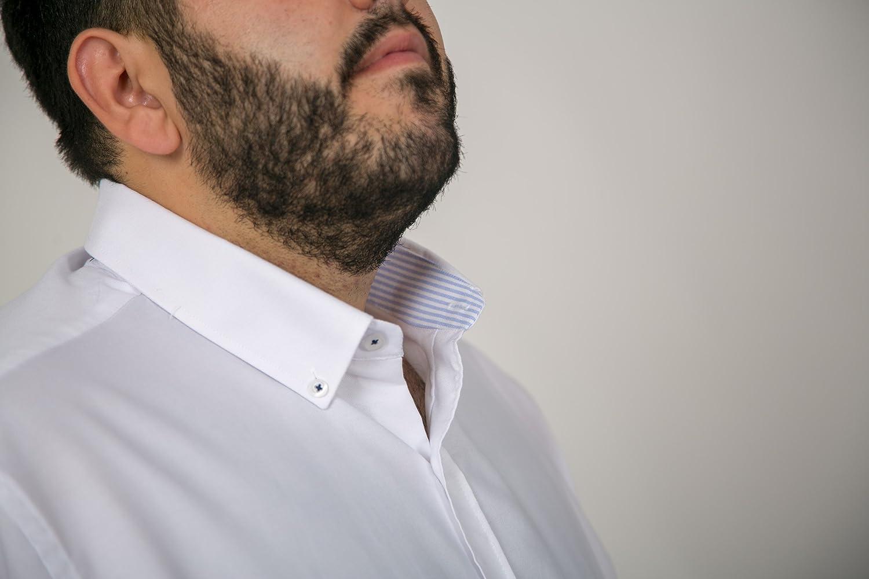 Varios Modelos y Tallas 21H Camisas Hombre Tallas Grandes Lisas Manga Larga Camisas de algod/ón