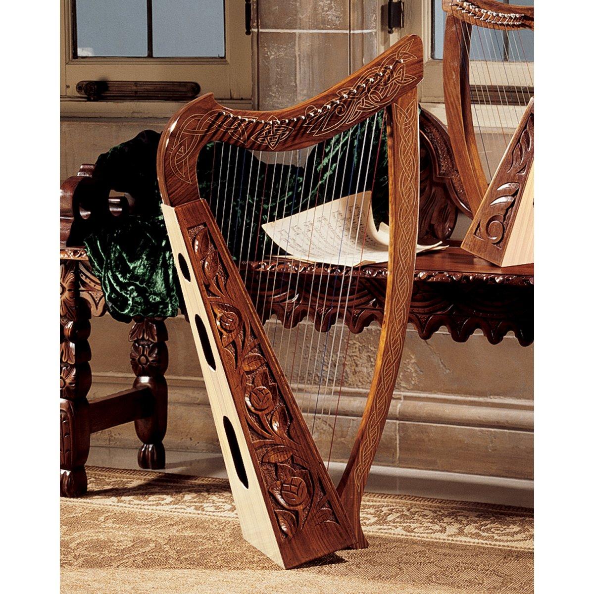 Uncategorized Picture Of A Harp amazon com design toscano celtic heather harp harps musical instruments