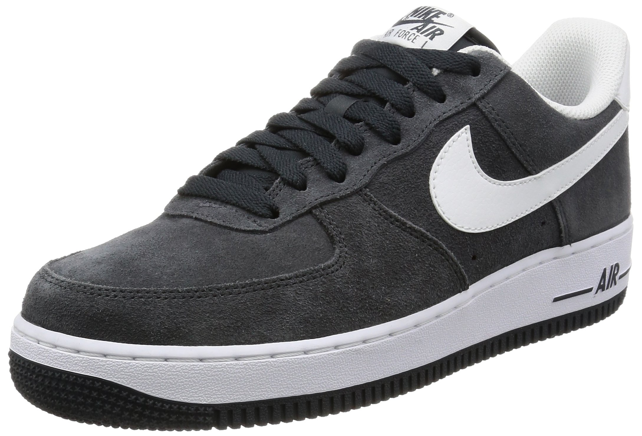 NIKE Men's Air Force 1 '07 Anthracite/White Basketball Shoe 10 Men US