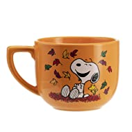 Hallmark 6MJN1526 Oversized Peanuts Mug, Large, Harvest Leaves