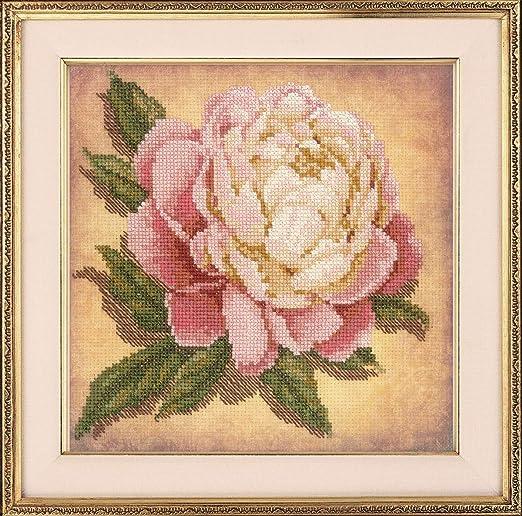 Peony Garden Cross Stitch Pattern The