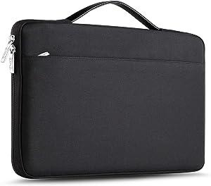 ZINZ Laptop Sleeve 14-15 Inch Case Briefcase, Compatible MacBook Pro A1990 A1707, XPS 15 Super Slim Spill-Resistant Handbag for Most Popular 14-15 inch Notebooks, Black