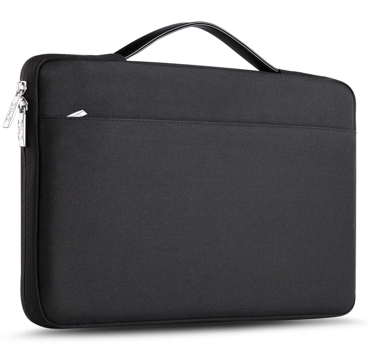 ZINZ Laptop Sleeve for 13-13.3 Inch MacBook Air| MacBook Pro Retina Late 2012 - Early 2016 | Most 14 Inch Dell/Ausu/Acer/HP/Toshiba/Lenovo,Spill-Resistant Laptop Bag Case Cover - Black