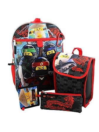 aaa53b1828 Amazon.com   Lego Ninjago Boys 5 piece Backpack and Snack Bag School ...