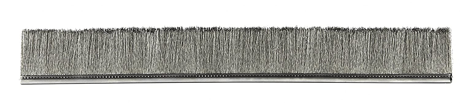 1 Overall Length Tanis Brush MB404012 Metal Back Strip Brush with 3//16 Stainless Steel Backing and Bristles 1 Trim Length