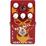 Caline Heavy Metal Distortion Pedal Guitar Effects Pedal True Bypass Vintage and Modern Style with Aluminum Alloy Housing, CP-30 Red Devil