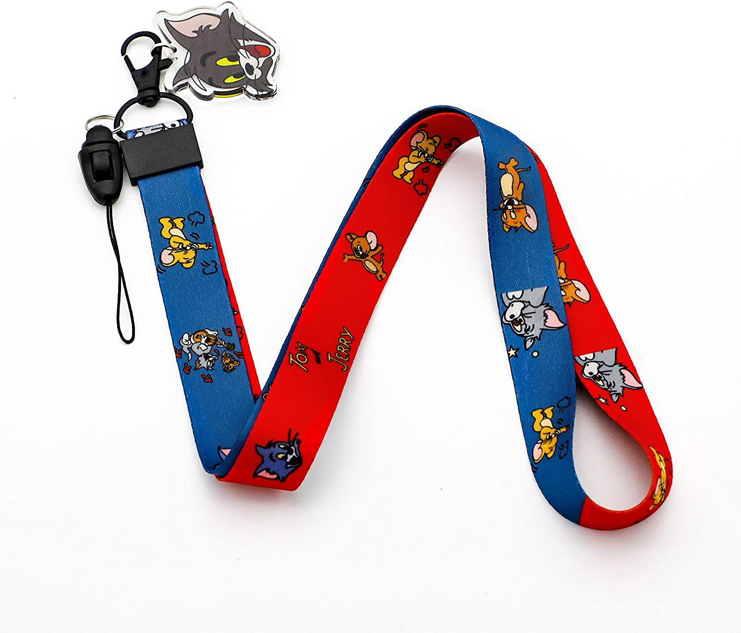 Tom and Jerry Lanyard Keychain ID Badge Holder
