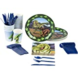 Juvale Dinosaur Party Supplies – Serves 24 – Includes Plates, Knives, Spoons, Forks, Cups and Napkins. Perfect Dinosaur Birthday Party Pack for Kids Dino Themed Parties.