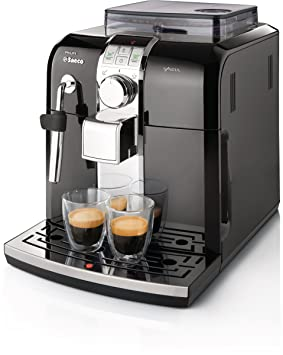 Saeco Syntia HD8833/47 - Cafetera (Máquina espresso, Granos de café, Molinillo integrado, 1400 W, Negro, Acero inoxidable): Amazon.es: Hogar