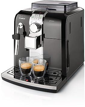 Saeco Syntia HD8833/47 - Cafetera (Máquina espresso, Granos de café, Molinillo