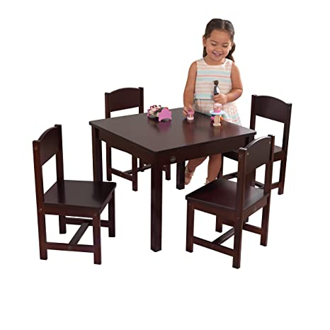 Remarkable Kidkraft Farmhouse Table And Chair Set Andrewgaddart Wooden Chair Designs For Living Room Andrewgaddartcom