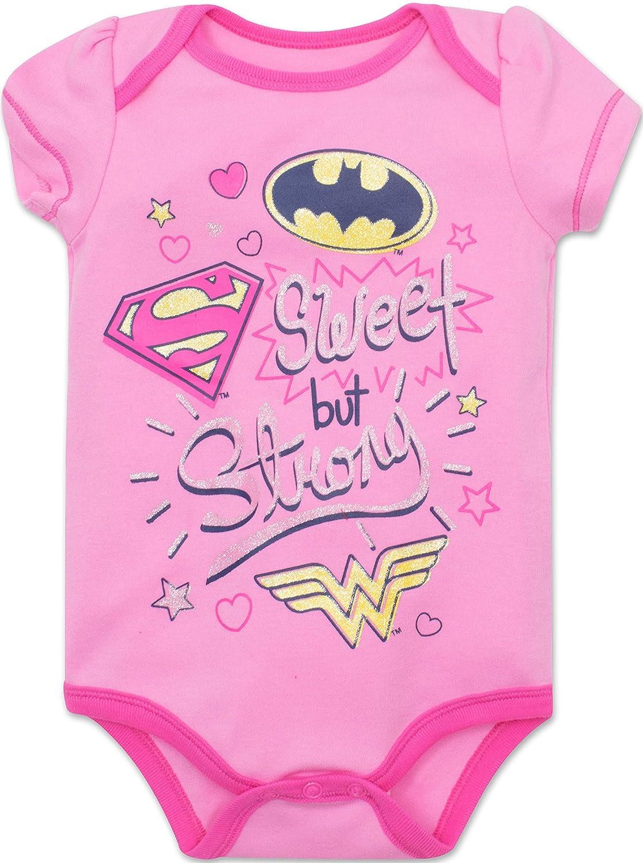 9253c7e66 Baby Girls' 5 Pack Onesies - Wonder Woman, Batgirl and Supergirl: Clothing