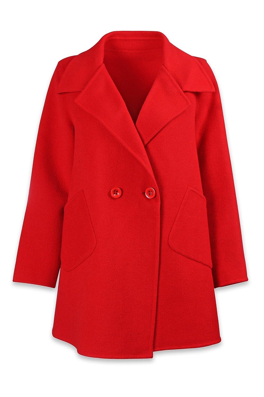 Well Knitting Damen Mantel Rot Rot