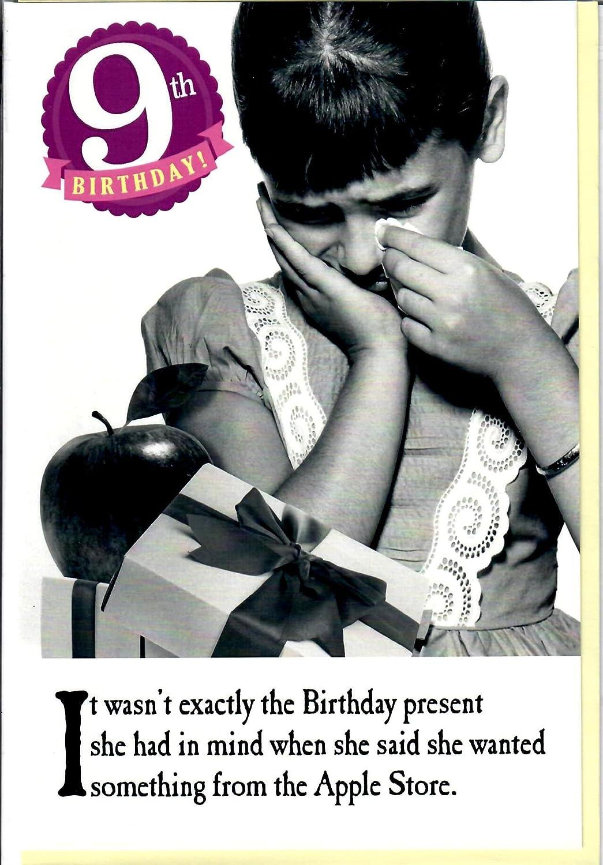 Tarjeta de felicitación de 9º cumpleaños con texto en inglés ...