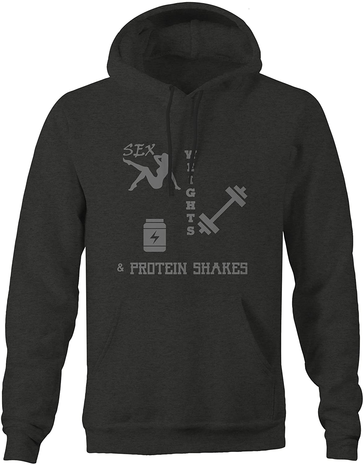 Sex Protein Shakes Large Stealth Square Gym Training Sweatshirt Weights
