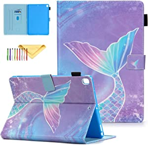 """Kids Case Fit New iPad 8th Gen 2020 / 7th Generation 2019, iPad 10.2 Case with Pen Holder - Cookk Protective Stand Cover with Auto Sleep/Wake Feature Wallet Case for Apple iPad 10.2"""", Mermaid Tail"""