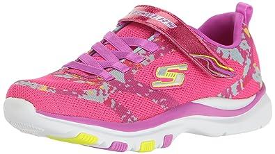 feebe9b0b31c Skechers Kids Girls  Trainer Lite-Bright Racer Sneaker