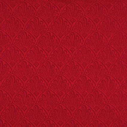 Amazon Com Ruby Red Tone On Tone Small Fan Or Leaf Foliage Pattern