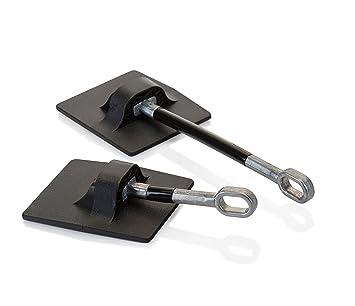 Black Computer Security Products Refrigerator Door Lock With Padlock
