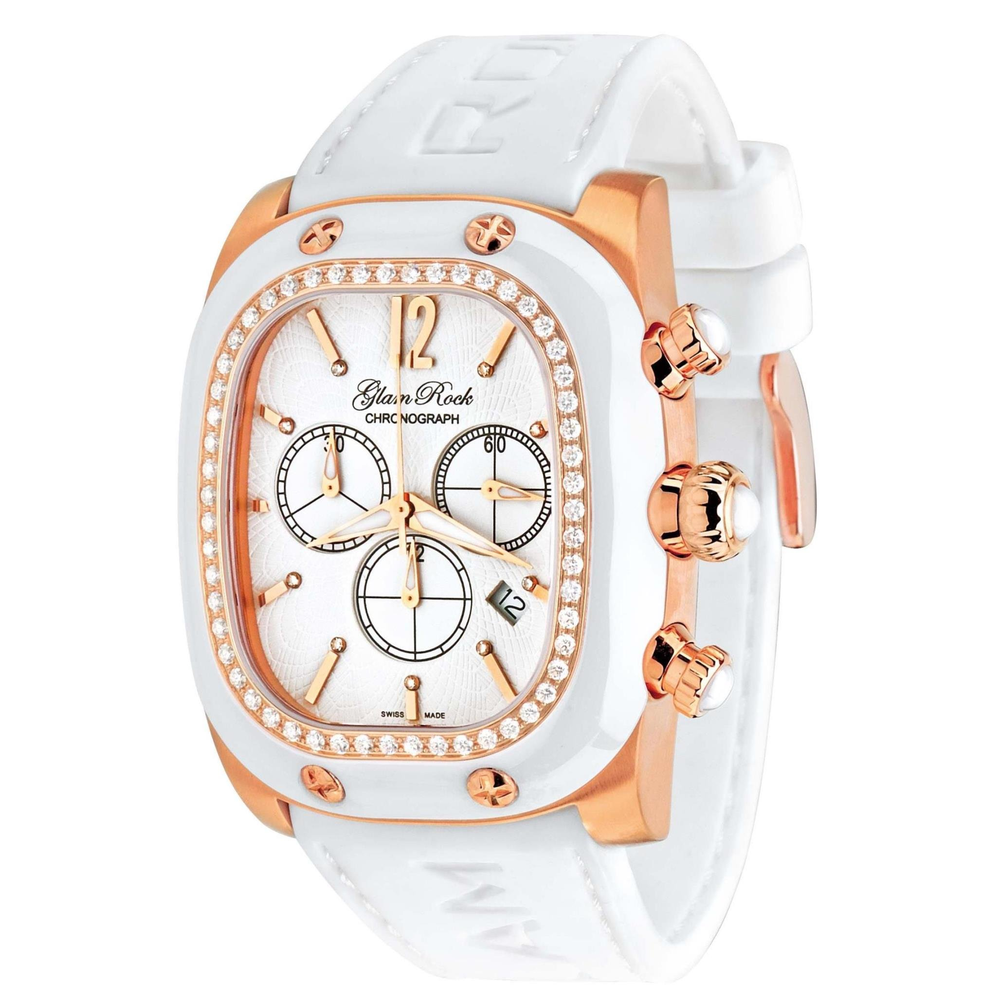 Glam Rock Women's GR70100D1 Gulfstream Collection Chronograph Diamond Accented Watch by Glam Rock
