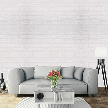 64fcdcb75f0 Papel Pintado Papel Pared Autoadhesivo 3D Ladrillo Empapelado Pegatina  Mural Paneles Decorativos Wallpaper Extraíble Impermeable Decoración