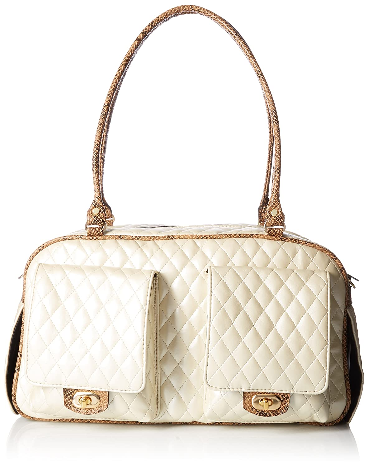 (Ivory Quilted) Petote Marlee Pet Carrier