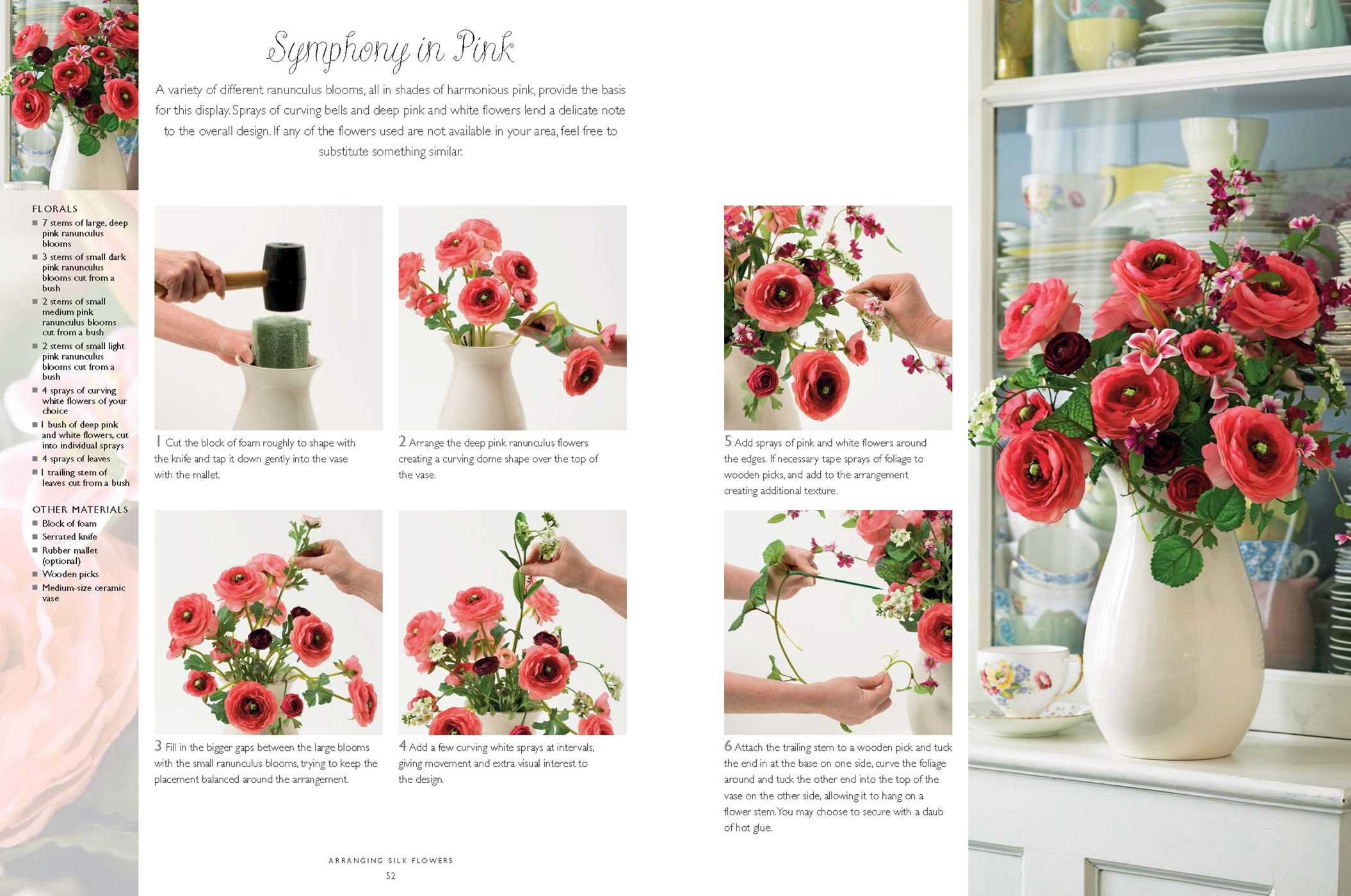 Arranging Faux Flowers And Foliage 35 Creative Step By Step