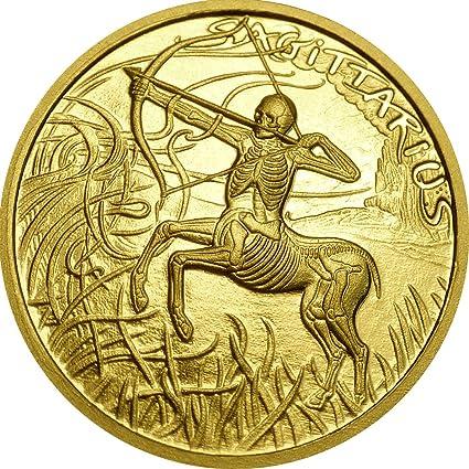Power Coin Sagittarius Sagitario Memento Mori Zodiac Skull ...