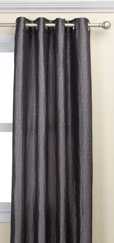 Deconovo Taft Fenster Vorhang Mit Glänzenden Pailletten Für Schlafzimmer 132 X 213 4 Cm Amazon De