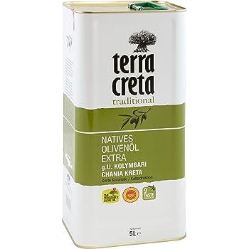 Gutes Olivenöl bekommen Sie von der Marke Terra Creta.