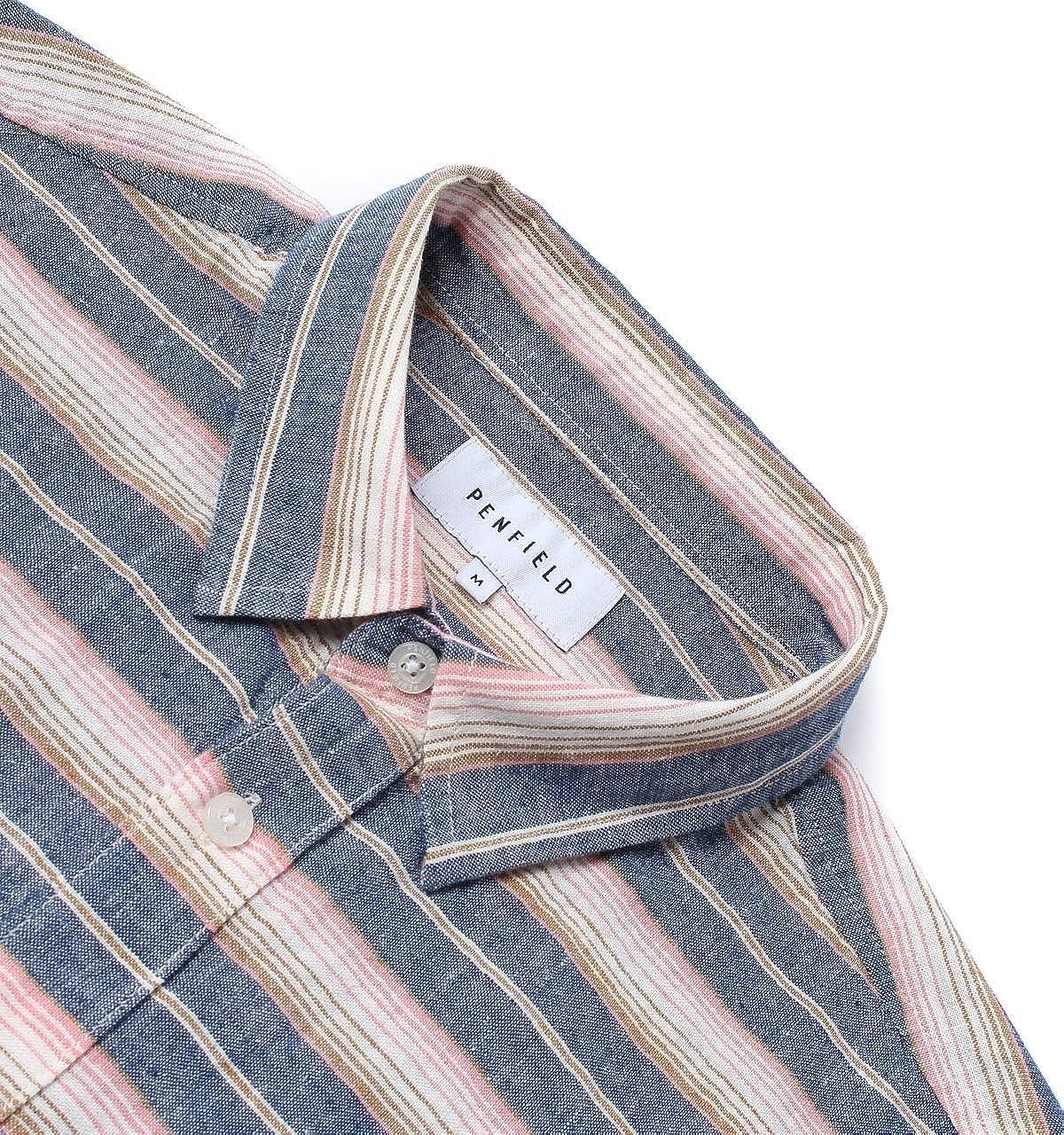 Penfield Hammat Indigo Stripe Mens Shirt